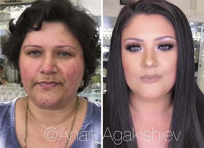Make up artisti që bën gratë e moshuara të duken si 20-vjeçare (FOTO)