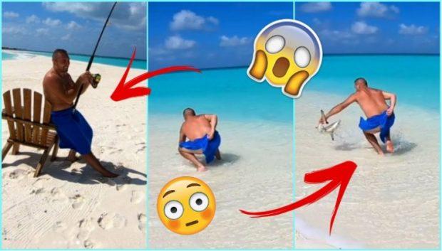 """Upss! Elita """"turpëron"""" Gjikon, i dalin sheshit duke kapur peshkaqenin (VIDEO)"""