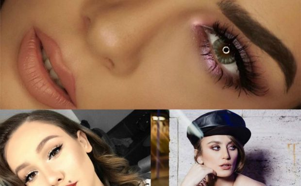 """Tendencat e """"make up""""-it sipas të famshmeve shqiptare për 2018-ën (FOTO)"""