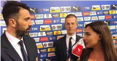 (FOTO) Buffon shqyen sytë duke i parë gjoksin Ilda Bejlerit, media italiane tallet me momentin epik