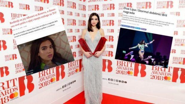 Mediat serbe për suksesin e Dua Lipës në Brit Awards: Prindërit i ka nga Kosova, e gjithë bota po flet për shqiptaren