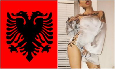 Pornostarja e njohur poston video me flamurin shqiptar (FOTO/VIDEO)