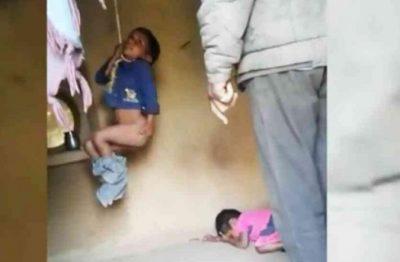 """TRAGJIKE/ I var me litar, babai """"monstër"""" rreh mizorisht fëmijët (FOTO)"""