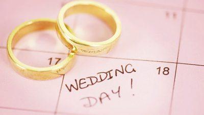 Dhjetë datat më të favorshme për t'u martuar këtë vit