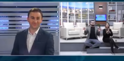 Shtangen shikuesit: Moderatorja shqiptare godet me shpullë kolegun në mes të emisionit