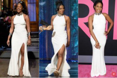 ÇMIMET OSCAR/ Aktorja vesh tri herë të njëjtin fustan në skenë, zbulohet arsyeja (FOTO)