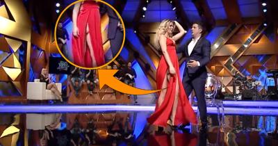 """Harrojeni fustanin e kuq, Kejvina kërcen me mbathje në """"Xing me Ermalin"""" (FOTO)"""