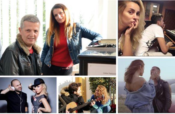 """Dashuritë e VIP-ave në studio. Edhe punojmë edhe gjejm """"të dashur"""" (FOTO)"""