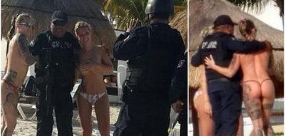 Kur harbohen dhe policët! FOTOT me turistet e zhveshura u kushtuan shtrenjtë