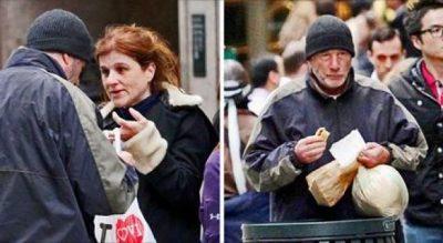 """Turistja i jep picën e saj një """"të pastrehu"""", nuk e kishte imagjinuar kurrë se kush ishte ai"""