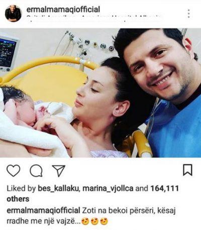 """Vajza e Ermal Mamaqit """"Mbretëresha e re e Instagramit"""", thyen rekord që ditën e parë të lindjes (FOTO)"""