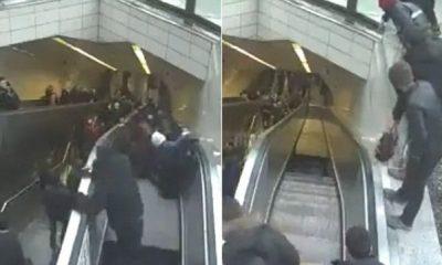 VIDEO/ Momenti tronditës: Prishet shkalla lëvizëse, njerëzit bien brenda saj