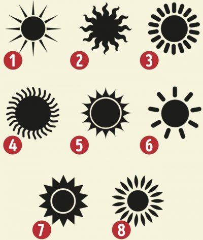 Format e diellit tregojnë për të ardhmen dhe personalitetin tuaj! Bëni zgjedhjen e duhur