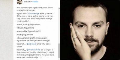 """U GJET I VDEKUR NË MAKINË/ Artin e ngushëllojnë në profilin e tij, vazhdojnë """"përplasjet"""" mes komentuesve"""