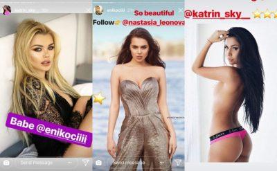 """Kur të famshmet fillojnë bëjnë """"qoka""""/ Ja çfarë po ndodh në profilet e VIP-ave shqiptarë (FOTO)"""