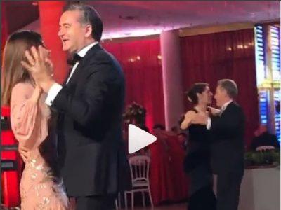 NA HABITËN! Kujt ja kishte marrë mendja që Blendi Klosi dhe Anjeza Maja të kërcenin valsin kaq bukur (VIDEO)