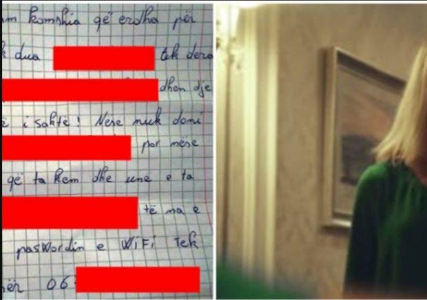 Gruaja misterioze i bën kërkesën e pazakontë çiftit nga Tirana, të nesërmen i lë poshtë derës letrën e dyshimtë