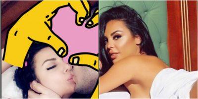 """""""E NXORRI KOKËN""""/ Marina Fara publikon FOTO nga shtrati duke u puthur me të dashurin"""