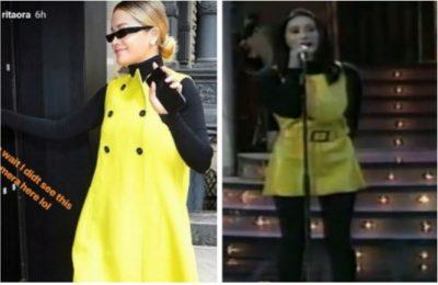 Kjo veshje e Ritës na kujtoi fustanin e verdhë të Erandës, që tronditi festivalin 22 vjet më parë (FOTO+VIDEO)