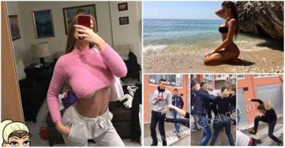 E PENDUARA TREJSI LË NAM! Këpucë dhe shishe birre kokës, gangsterja Elbasanit bën sherr në Club (VIDEO)