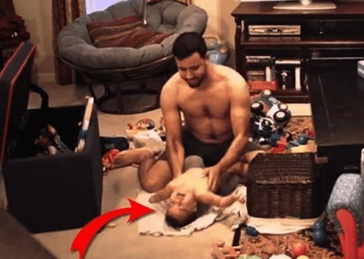 Lë vetëm babanë me fëmijën, gruaja mbush sytë me lot pas asaj që sheh dhe… (VIDEO)