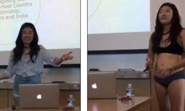 Profesoresha e kritikon për xhinset e shkurtra/ Ajo çfarë bën kjo studente do ju habis (FOTO)