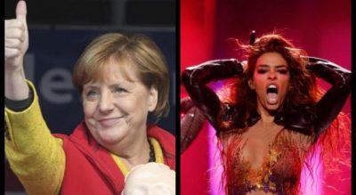 Edhe Kancelarja Merkel fanse e SHQIPTARES Eleni Foureira! E votoi në… (FOTO)