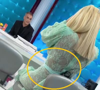 Këngëtarja LË NAM në televizion, shfaqet thuajse NUDO e mbuluar vetëm me një dantellë