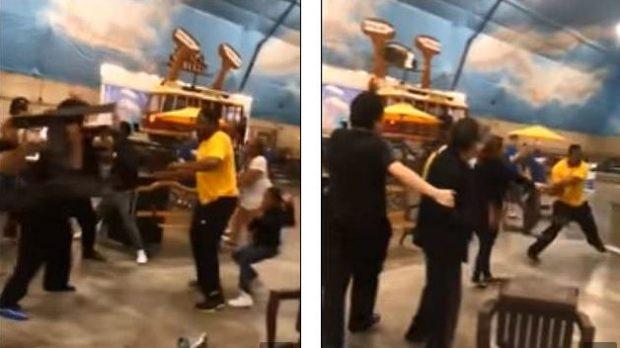 PLAS SHERRI/ Goditje, karrige e pjata kokës, bëhet nami në hotel dhe…(FOTO/VIDEO)