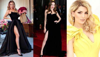 """""""Mëso të vishesh se ke lekë!"""" Fustani alla Angelina Jolie nuk pëlqehet nga fansja, reagon Besa Kokëdhima"""