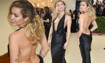 """FUSTANI I ZI """"MËKATAR""""/ Miley Cyrus pa të brendshme në Met Gala (FOTO)"""