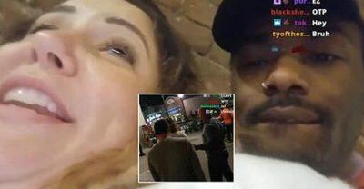 VIDEO: Burri kap mat gruan, po puthej me një të panjohur