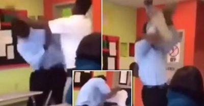 VIDEO/ Momenti shokues: Plas grushti në klasë, nxënësi sfidon mësuesin, përplaset mbi tavolinë