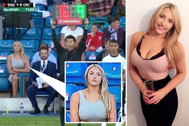 'Harron ndeshjen', kameramani fiksohet tek bukuroshja në stadium (FOTO/VIDEO)