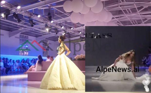 Çfarë HUMBËT nga eventi i Alketa Veisiut! Modelja RRËZOHET KEQ gjatë… (VIDEO e siguruar nga AlpeNews)