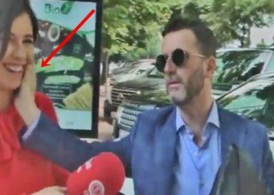 """Gazetarja i bën pyetjen """"pikante"""" Erjon Braçe e kap nga faqja, ajo i kthehet: Të dukem e vogël? (VIDEO)"""