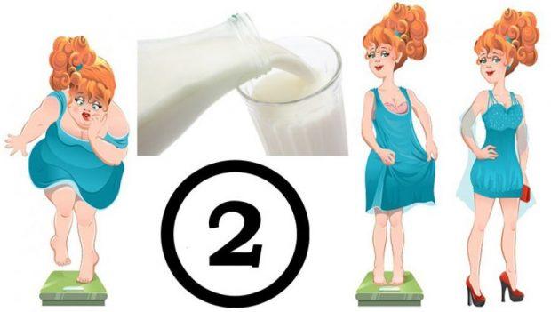 Dieta me qumësht; Si të humbisni dy kilogramë brenda një jave