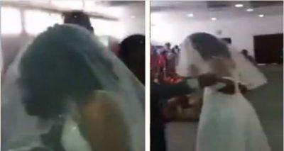 Dashnorja vesh fustanin e bardhë dhe shfaqet papritur në martesën e partnerit (VIDEO)