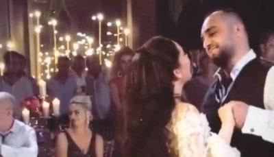 Momenti i prerjes së tortës dhe kërcimi i çiftit, çfarë nuk patë nga dasma e Jona Spahiut