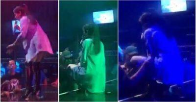 Kjo këngëtare i lë pa fjalë të gjithë, godet me shkelm fansin në mes të koncertit (VIDEO)