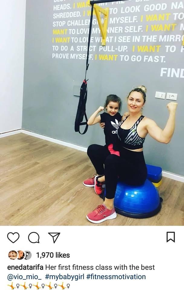 Në palestër me mamin, Eneda Tarifa dhe Aria i bashkohen këtij trendi