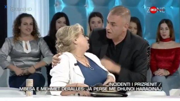 Incidenti në emisionin e Çanit/ Shikoni si moderatori nxjerr të ftuarën me zor nga studio (VIDEO)