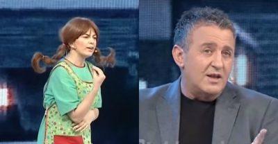 Del VIDEO/ Ja ç'ndodhi në prapaskenën e Piter Panit mes Agron Llakajt dhe Rudina Dembacajt