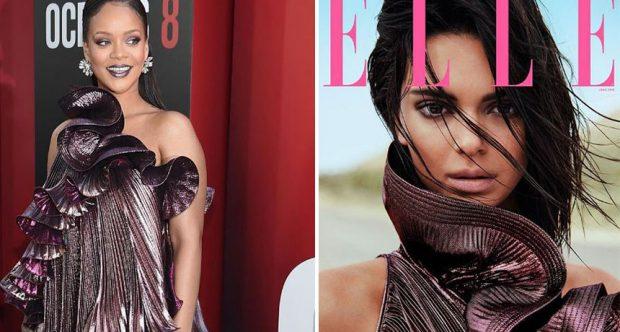 Rihanna dhe Kendall Jenner me të njëjtin fustan, cila duket më bukur?(FOTO)