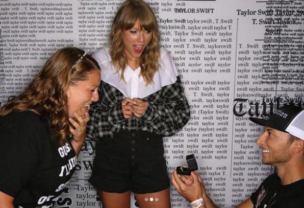 Propozim si nëpër filma: I riu përlot të dashurën para Taylor Swift