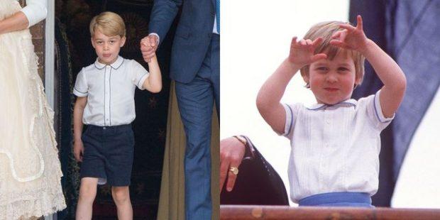 Bëmë baba të të ngjaj/ Princi George rikrijoi veshjet e të atit (FOTO)