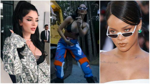 """Nëse Era Istrefi ka ngjashmëri zëri me Rihanna-n, Dafina Zeqiri duket """"copy-paste"""" si ylli botëror në klipin FUEGO"""
