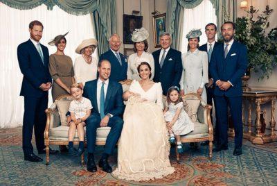 Për herë të parë si një familje prej pesë personash/ Dalin pamjet nga festa e pagëzimit të princit Louis
