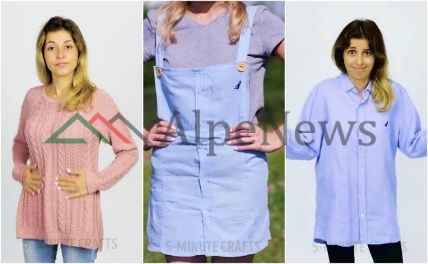 """Ja disa IDE BRILANTE si të modifikoni rrobat tuaja dhe të dukeni shumë """"stil"""" (VIDEO)"""