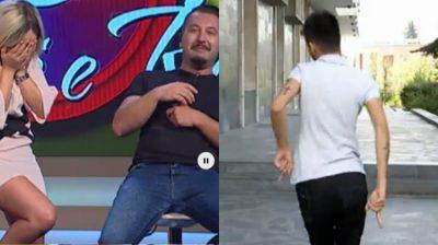 """I zbërthehet rripi në mes të emisionit/ Çfarë  i ndodhi """"Zogut të Tiranës""""? (FOTO)"""